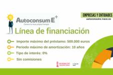 Financiación bonificada para proyectos de Autoconsumo