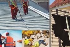 Trabajos en cubiertas: lo importante es bajar con vida