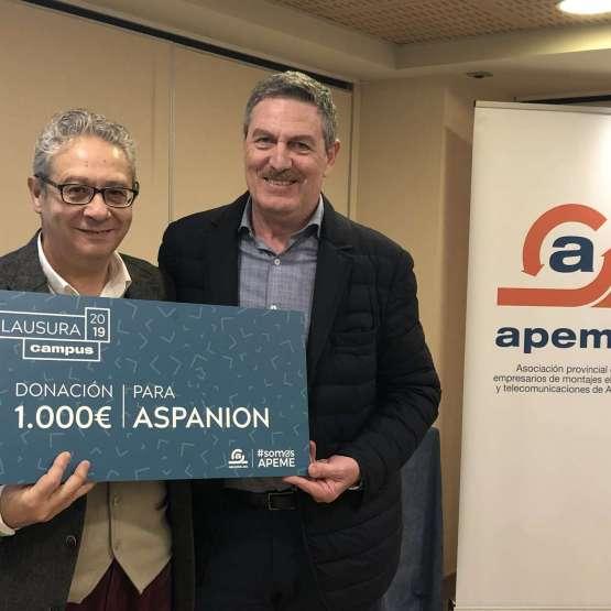 Responsabilidad Social Corporativa: Donación aASPANION,Asociación de Asociación de Padres de Niños con Cáncer de la Comunidad Valenciana.