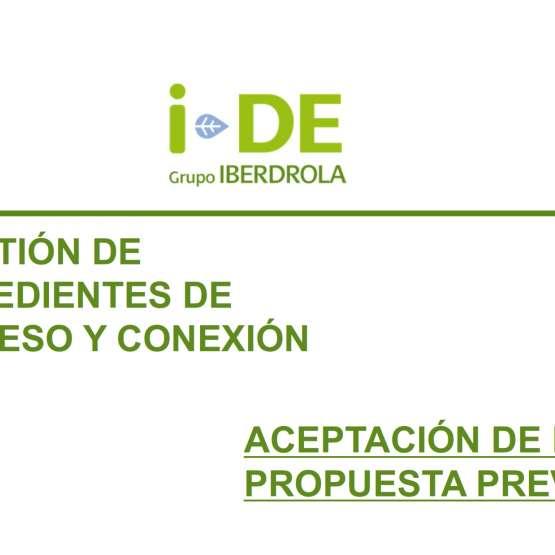 Comunicado i-DE: Aceptación Propuesta Previa en GEA