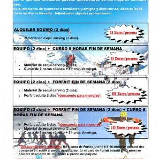 Promoción especial APEME Sierra Nevada Fin de semana